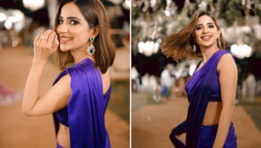 Saboor Aly Is a Desi Goddess In this Blue Sari