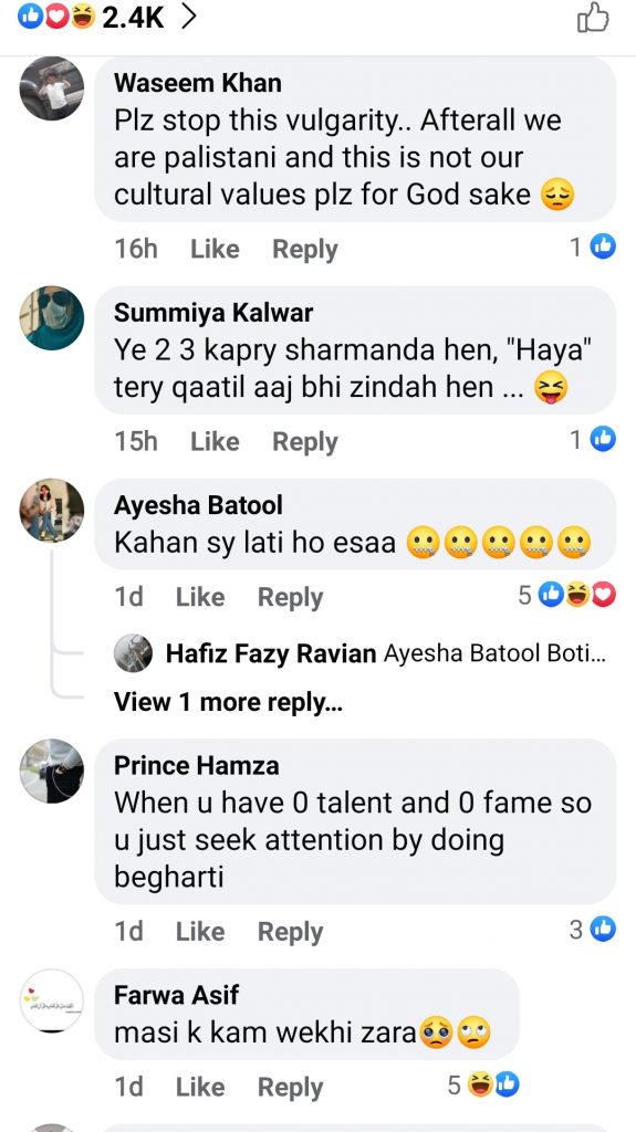 Netizens Criticism On Anmol Baloch Bold Pictures