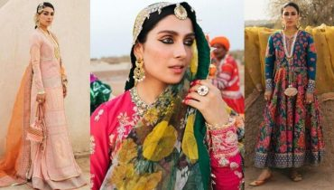 Ayeza Khan Shows Pretty Sight Of The Rajasthani Ensemble