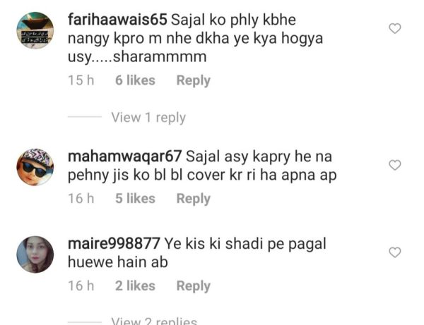 Let's have a look at what people have to say about Sajal's dressing at the function.