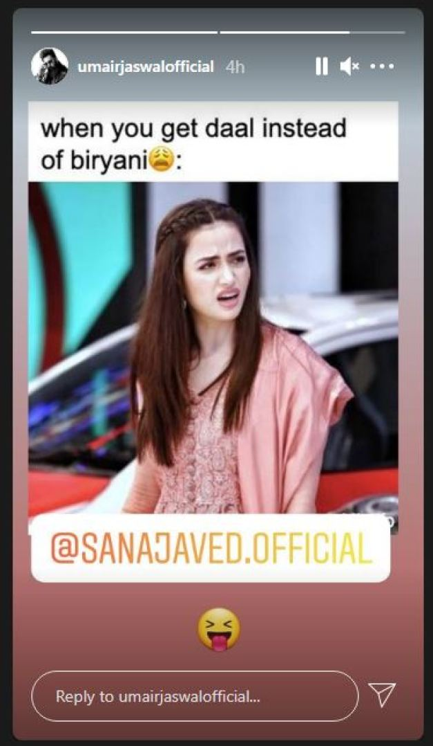 Umair Jaswal Teases Wife Sana Javed With A Jocular Instagram Post