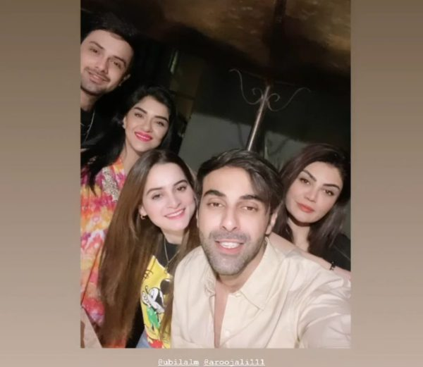 Aiman Khan and Minal Khan Latest Pictures With Friends Party