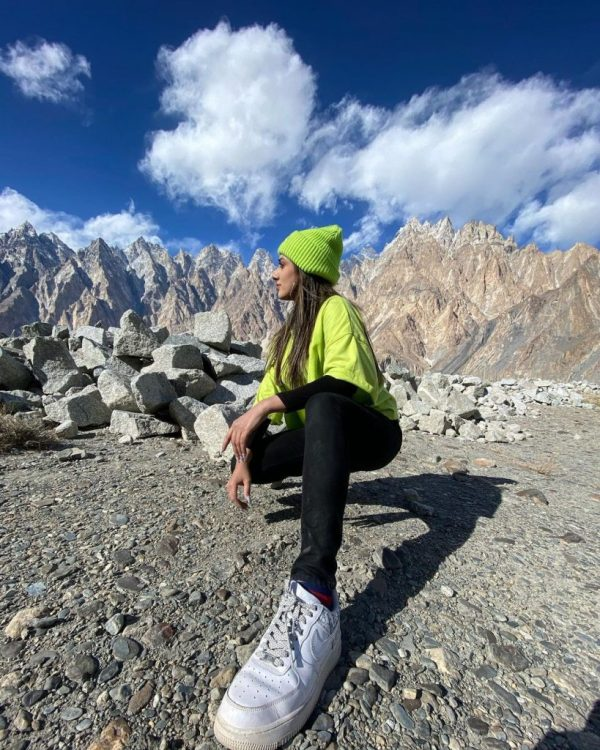 Amazing clicks of Jannat Mirza in the Northern Areas of Pakistan