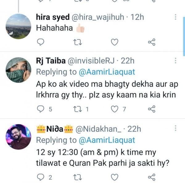 Twitter Trolls Aamir Liaquat For His Recent Content