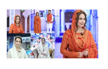 Beautiful Reema Khan on Set of her Ramazan Transmission