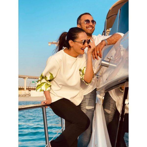 Momal Sheikh And Husband Hot Photoshoot