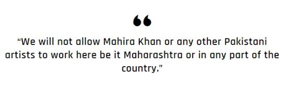 MNS Won't Allow Mahira Khan to Work in India