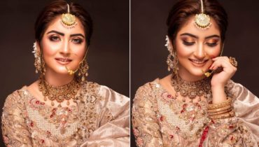 Hiba Bukhari Plays to Her Desi Looks In a Bridal Attire