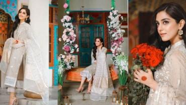 Maya Ali Looks Radiant In This Beautiful Eastern Beige Attire