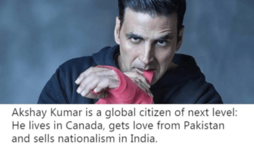 Indian Actor Akshay Kumar Really Stand Up For Pakistan