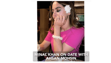 Minal Khan On Date With Her Fiancé Ahsan Moshin
