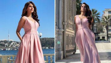 Saba Qamar Sports a Chic Spells in Pink in Istanbul