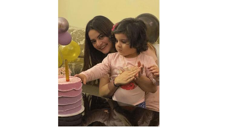 Birthday Celebration Of Aiman Khan & Muneeb But Daughter
