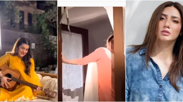 Mahira Khan dance in the BTS video as Kubra plays Guitar