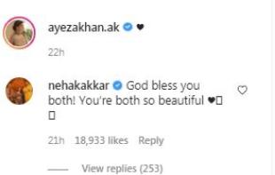 Neha Kakkar gushes over Ayeza Khan And Danish Taimoor
