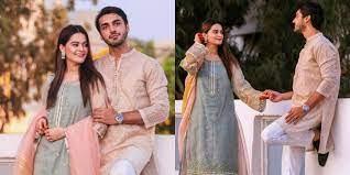 The Newlyweds Minal Khan And Ahsan Mohsin Ikram1st dawat