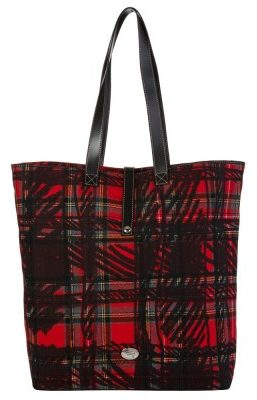 Vivienne Westwood Red Tartan Wool Toulon Tote Bag