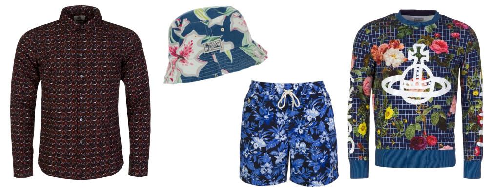 Men's floral fashion