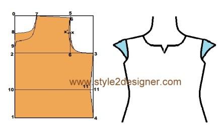 Trail cut dress bodice Pattern