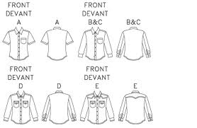 diagram of men shirt