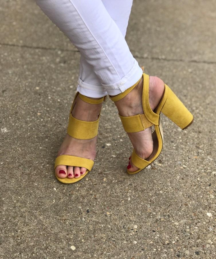 yellow sandals 1