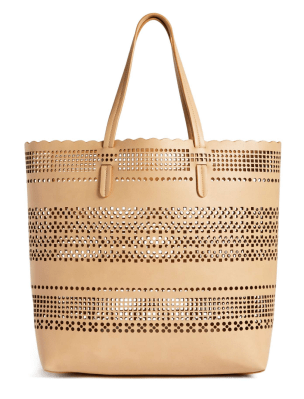 laset cut out tote