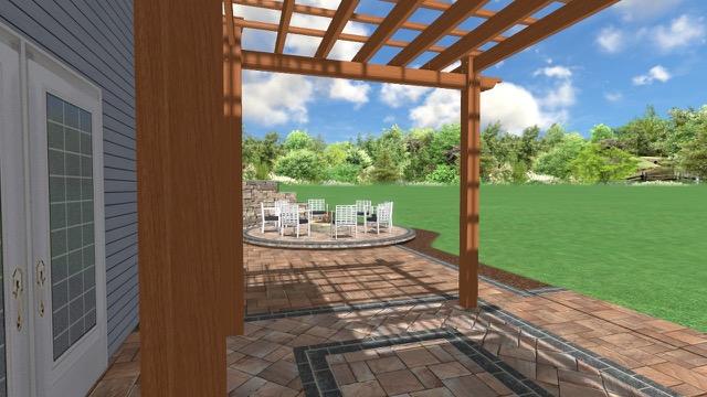Patio rendering 4