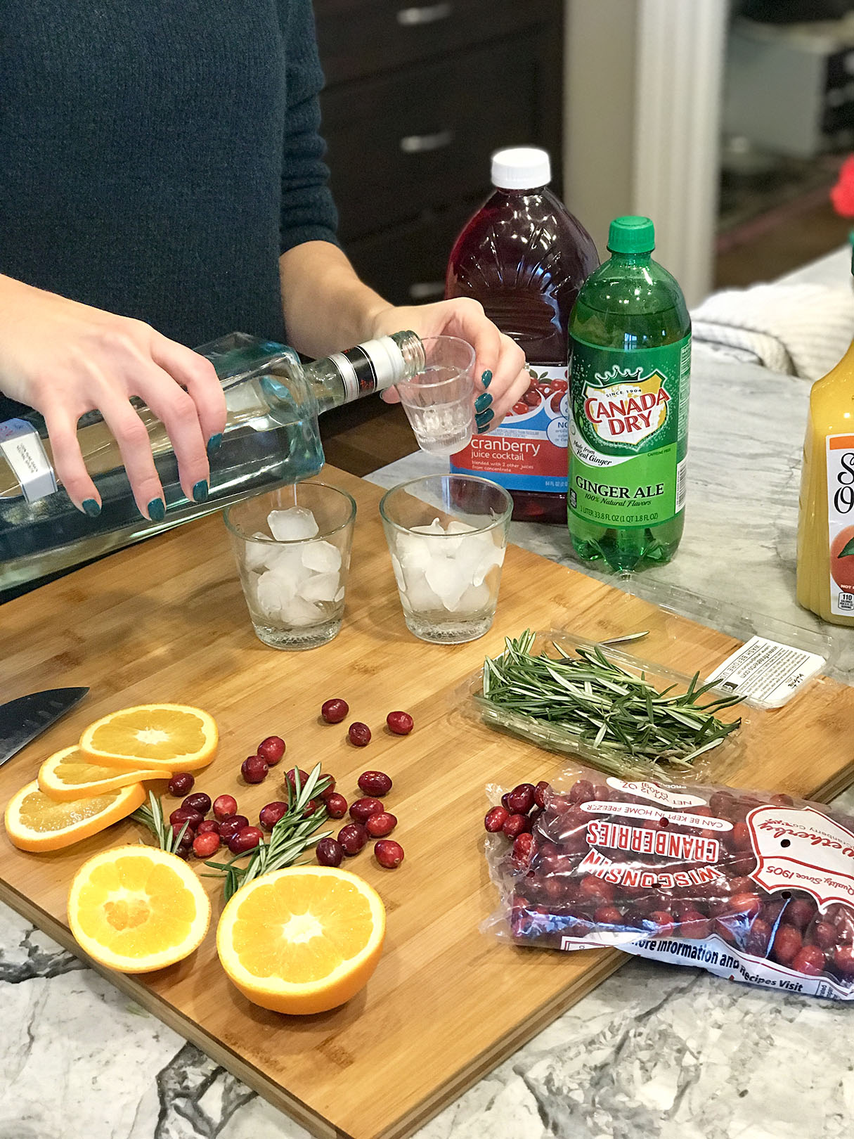 holiday cocktail step 1