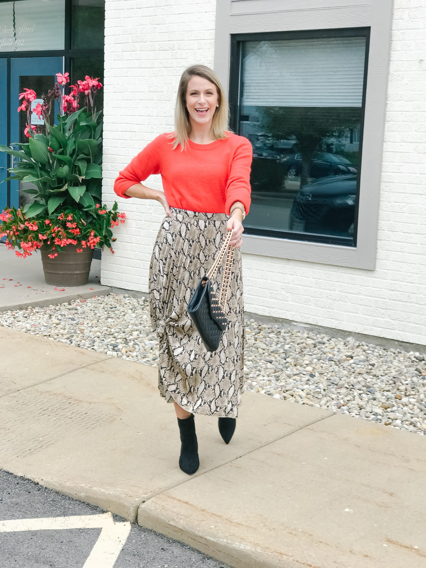 2 Ways To Style A Snakeskin Print Skirt // Fall Edition