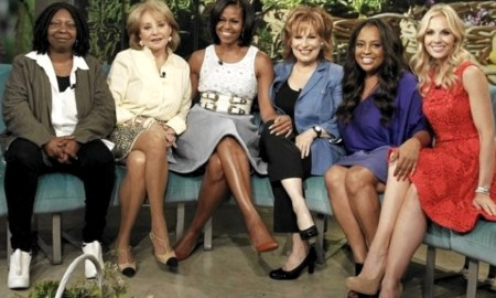 """Michelle Obama with Mimi Plange and hots of ABC's """"The View"""""""