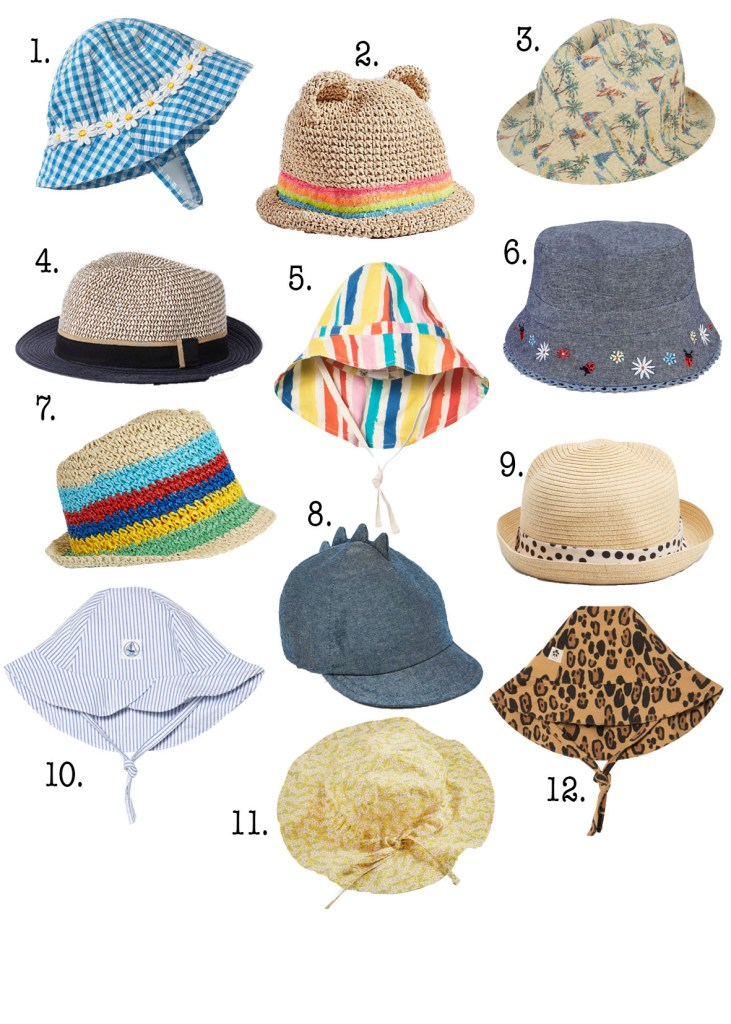 12 of the best children's sun hats www.styleandsubstance.uk