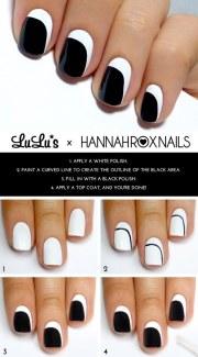 simple nail art tutorial step