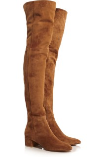 Suede knee boots. Gianvito Rossi, $1,975