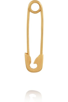 Safety pin gold earring, IAM by Ileana Makri $205