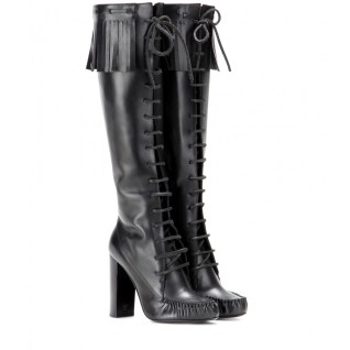 Leather knee lace-up boots. Tom Ford, $2,195