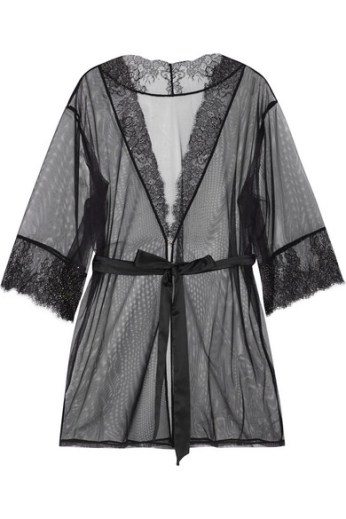 Lace-trimmed stretch-tulle robe. L'Agent by Agent Provocateur, $200