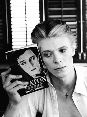 David Bowie with Buster Keaton Book by Steve Schapiro, 1975