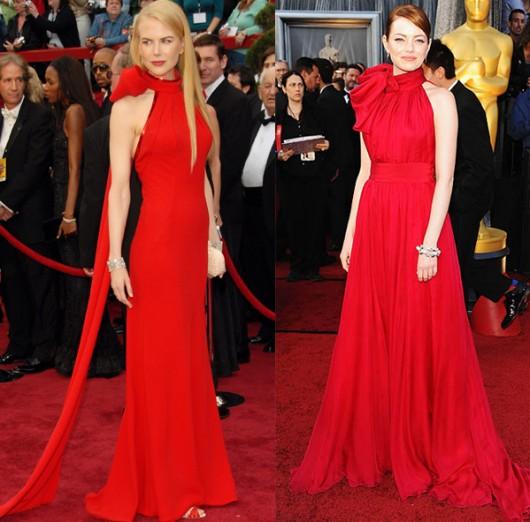 Oscars 2012 Emma Stone Vs Nicole Kidman Style Blog Canadian Fashion And Lifestyle News