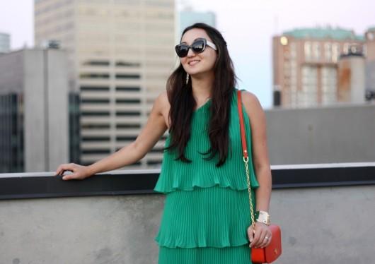 green-pleated-dress