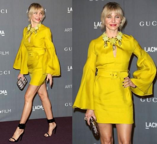 cameron-diaz-yellow-gucci-dress