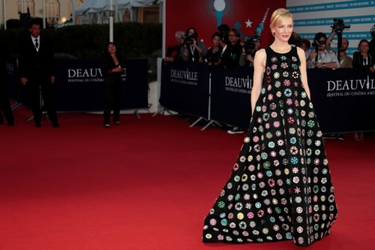 "Australian actress Cate Blanchett poses on the red carpet before to attend the screening of the film ""Blue Jasmine"" by US director Woody Allen as part of the 39th Deauville's US Film Festival on August 31, 2013 in the French northwestern sea resort of Deauville. AFP PHOTO/CHARLY TRIBALLEAU        (Photo credit should read CHARLY TRIBALLEAU/AFP/Getty Images)"