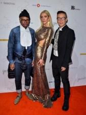 Canadian-Arts-Fashion-Awards-2014-Sylvia-Mantella-with-Greta-Constantines-Kirk-Pickersgill-and-Stephen-Wong