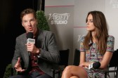 Benedict Cumberbatch and Keira Knightley at Variety Studio