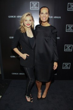 Chloe Grace Moretz and Roberta Armani at Armani CN Tower Party