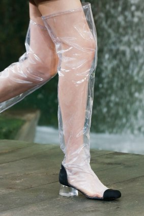Chanel-Spring-Summer-2018-Collection-vinyl-boots-thigh-high