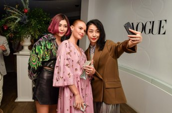 Holt-Renfrew-VOGUE-pop-up-Cola Xia, Kate Bosworth and Hazel Ma