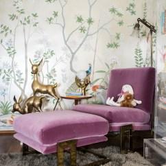 Reading Nook Chair Papasan London Ontario A Modern Glam Nursery Makeover - Emily Henderson