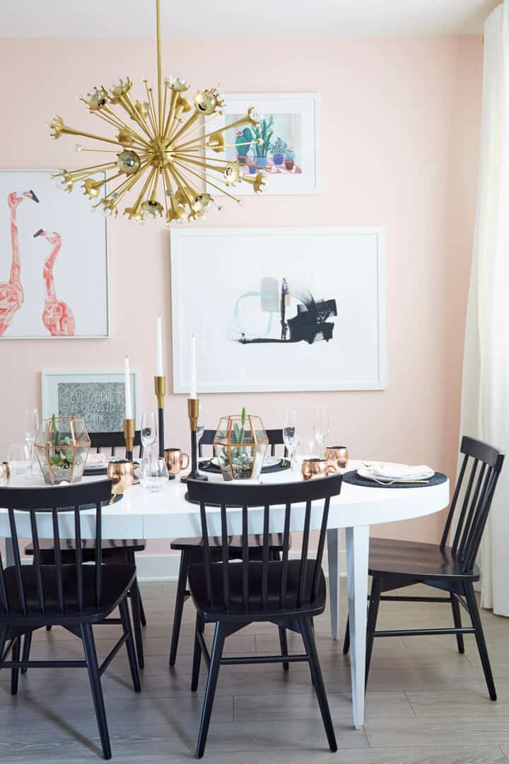 Emily_Henderson_Pink_Dining_Room_Girly_Gold