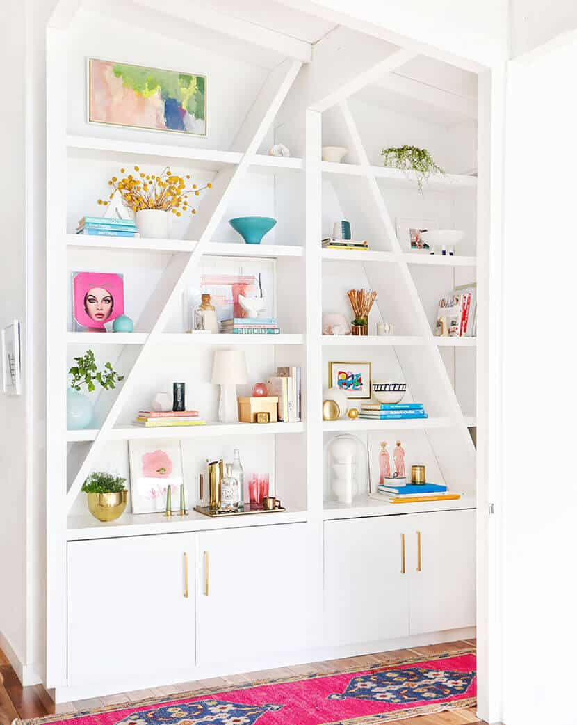 Emily Henderson Pink Shelf