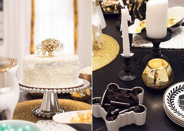Target-Holiday-Emily-Henderson-Black-White-Gold-Dining-Room-cake-and-plates